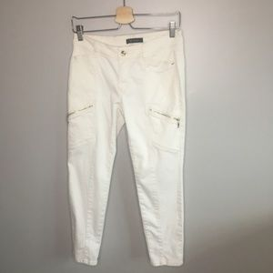 White House Black Market White Skinny Crop Jeans